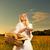 gyönyörű · fiatal · nő · kosár · tele · friss · sült - stock fotó © nejron