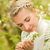 belo · mulher · jovem · joaninha · mão · primavera · mulher - foto stock © nejron