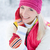 bastante · invierno · mujer · cara · moda - foto stock © Nejron
