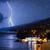 küçük · şehir · okyanus · fırtınalı · gece · su - stok fotoğraf © nejron