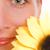 少女 · 緑の目 · ヒマワリ · 美しい · 若い女性 · 顔 - ストックフォト © nejron