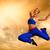 beautiful woman jumping outdoors stock photo © nejron