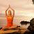 beautiful young woman doing yoga exercise outdoors stock photo © nejron