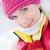 hermosa · jóvenes · rubio · invierno · forestales · primer · plano - foto stock © Nejron