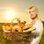 mulher · jovem · padaria · mão · pão · mercado · armazenar - foto stock © nejron