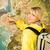 happy tourist near the map stock photo © nejron