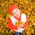 güzel · küçük · kız · sonbahar · yaprakları · açık · havada · yüz · mutlu - stok fotoğraf © Nejron
