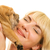 beautiful girl with sharpei puppy stock photo © nejron