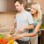 séduisant · heureux · homme · végétarien · salade - photo stock © nejron