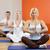 adam · yoga · egzersiz · ev · oturma · zemin - stok fotoğraf © nejron