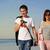 caminhada · belo · praia · backlight · sorrir - foto stock © nejron