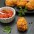 pörkölt · tyúk · szárnyak · krumpli · vacsora · tányér - stock fotó © neliana