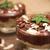 csokoládé · hab · puding · finom · eprek · citromsárga · torta - stock fotó © neliana