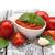 domates · fesleğen · kaşık · otlar · baharatlar · temel - stok fotoğraf © neliana