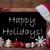 brown blackboard santa hat christmas decoration happy holidays stock photo © nelosa