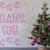 christmas tree cement wall text thank you stock photo © nelosa