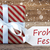 present with snowflakes text frohes fest means merry christmas stock photo © nelosa