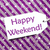 label on purple wrapping paper snowflakes text happy weekend stock photo © nelosa