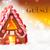 gingerbread house golden background gutschein means voucher stock photo © nelosa