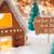 gingerbread house bronze background guten rutsch 2017 means new year stock photo © nelosa