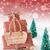 vertical sleigh red background guten rutsch 2017 means new year stock photo © nelosa