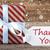 witte · geschenk · sneeuwvlokken · tekst · dank · u · drie - stockfoto © nelosa