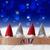 gnomes blue background bokeh stars text 2017 stock photo © nelosa