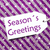 label on purple wrapping paper snowflakes text seasons greetings stock photo © nelosa