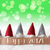 gnomes green background bokeh stars text happy 2017 stock photo © nelosa
