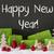 christmas decoration cement snow text happy new year stock photo © nelosa