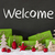 christmas decoration cement snow text welcome stock photo © nelosa