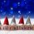 azul · Navidad · bokeh · nieve · textura · tarjeta - foto stock © nelosa