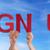 people holding sign up stock photo © nelosa