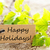 naturales · etiqueta · feliz · acción · de · gracias · mirando · flor - foto stock © nelosa