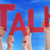 many people hands holding red word talk blue sky stock photo © nelosa