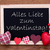 blackboard red hearts text liebe valentinstag means happy valentines day stock photo © nelosa