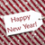 label on red paper snowflakes text happy new year stock photo © nelosa