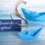 Blauw · label · dank · u · woorden · opknoping · lijn - stockfoto © nelosa