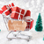 trolly with christmas presents snow geschenk tipp means gift tip stock photo © nelosa