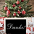 nostalgic christmas tree with danke means thank you stock photo © nelosa