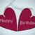 two red hearts with happy birthday stock photo © nelosa