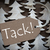 brown christmas label with tack means thank you stock photo © nelosa