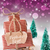 vertical sleigh on purple background frohes fest means merry christmas stock photo © nelosa