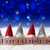 gnomes blue background bokeh stars text merry christmas stock photo © nelosa