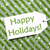 label on green wrapping paper with snowflakes text happy holidays stock photo © nelosa