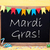 chalkboard with decoration text mardi gras stock photo © nelosa
