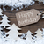 label christmas trees and snow happy birthday stock photo © nelosa