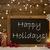 christmas card blackboard snowflakes candle happy holidays stock photo © nelosa