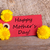etiqueta · feliz · dia · das · mães · roxo · flores · verde · fita - foto stock © nelosa