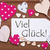 label with pink heart viel glueck means good luck stock photo © nelosa